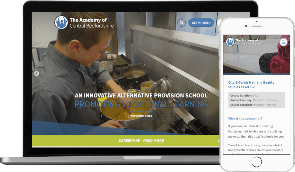 Academy of Central Bedfordshire website
