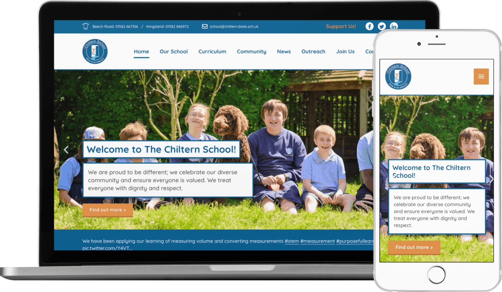 The Chiltern School website