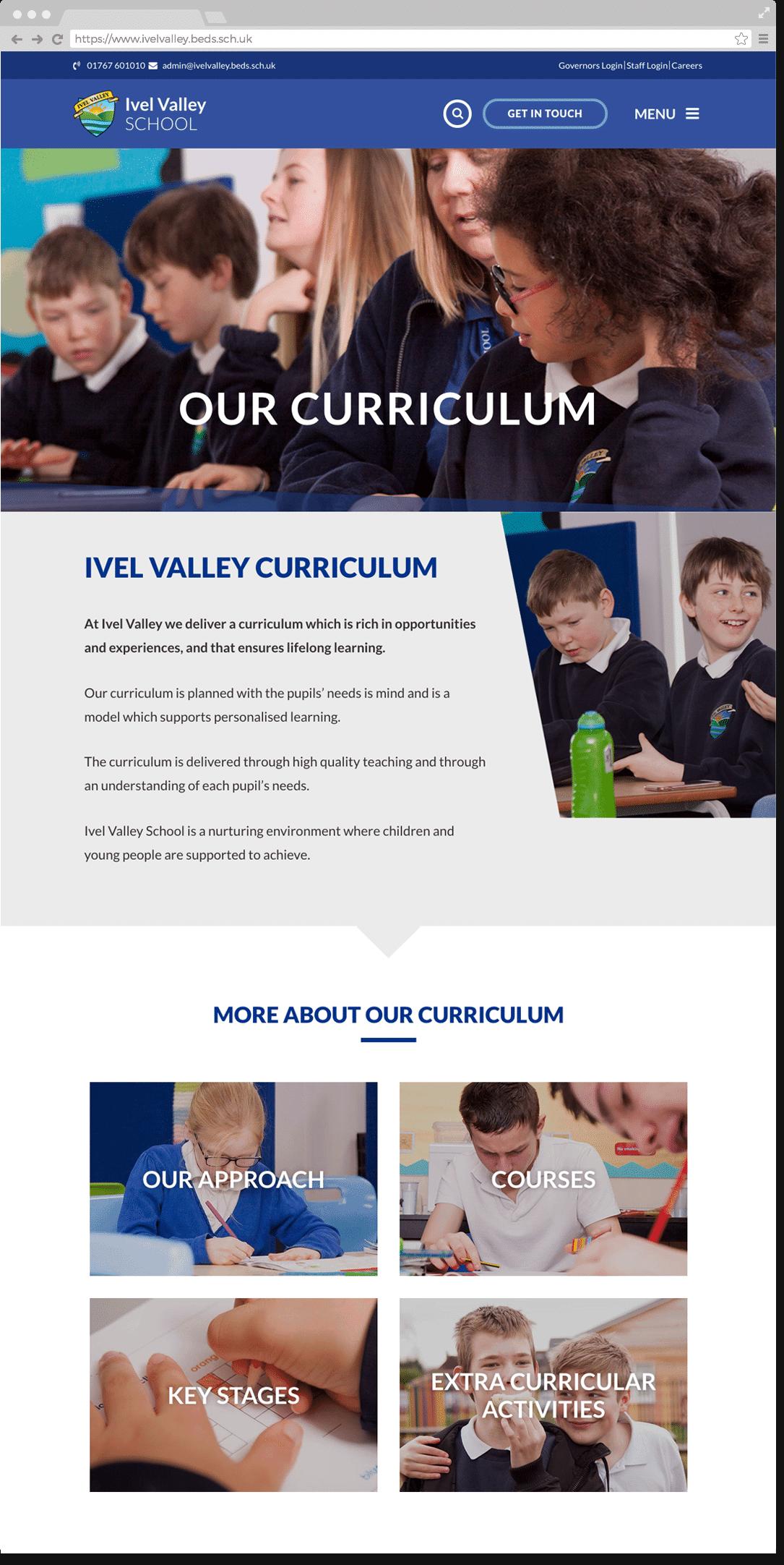 Ivel Valley School website