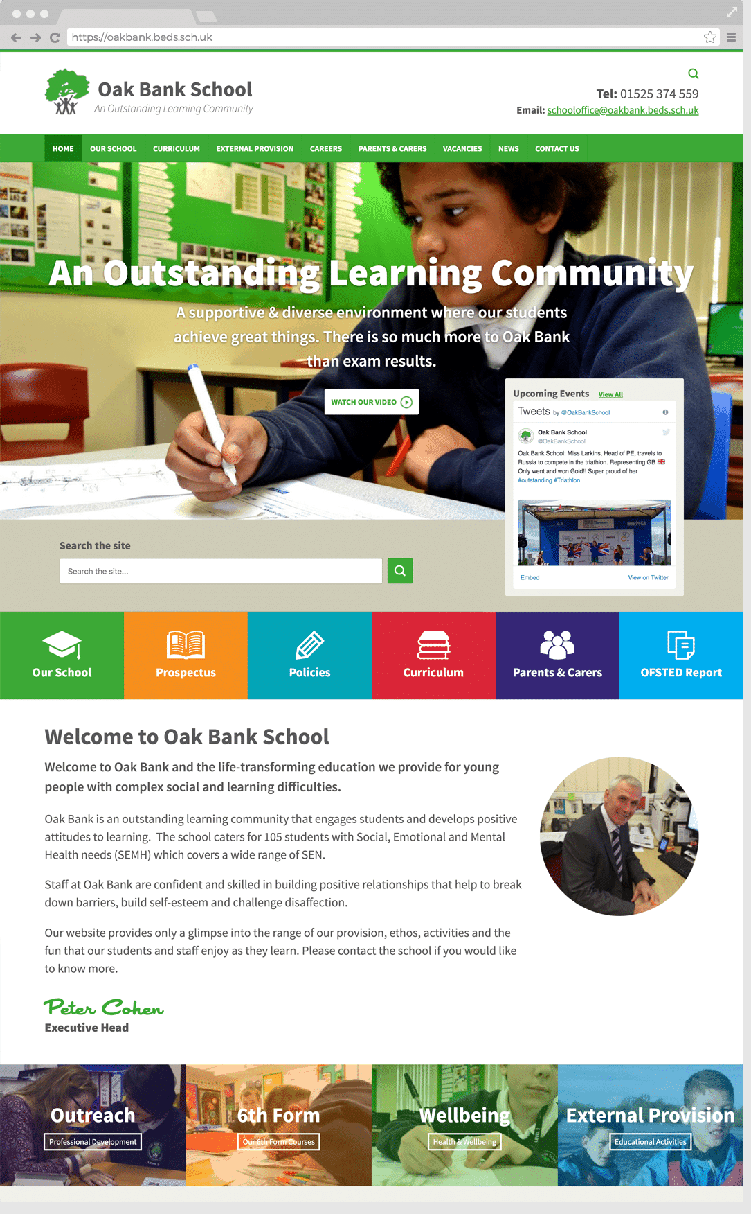 Oak Bank School website