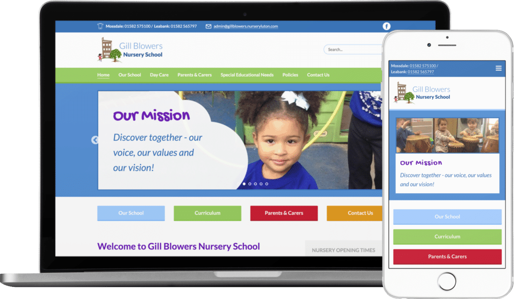 Gill Blowers Nursery School website