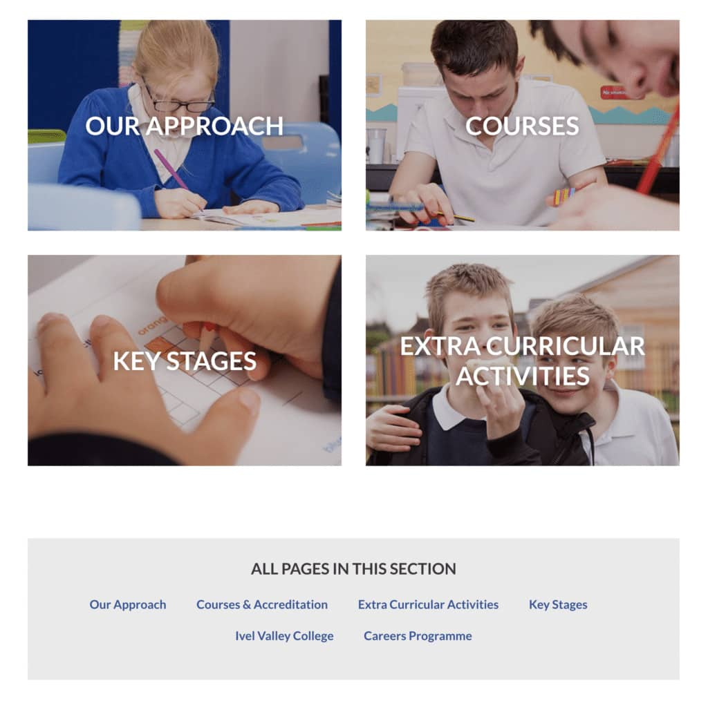 Ivel Valley School's Curriculum page